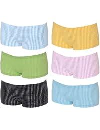 6er Pack Damen u. Mächen Pantys 'kleine Karos' mehrfarbig verschiedene Größen