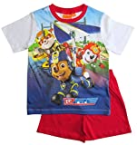 Paw Patrol Schlafanzug Kollektion 2018 Pyjama 92 98 104 110 116 122 Shortie Shorty Jungen Weiß-Rot (Weiß-Rot, 98)