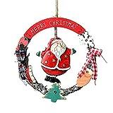 Overdose Holz Weihnachtsdeko Anhänger Girlanden Weihnachtskranz Dekorieren Christbaumschmuck Schneemann Engel Weihnachtsmann Partydeko Zubehörteilen