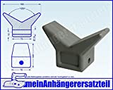 Bugstütze Kielstütze Bugmaul Bugaufnahme aus Gummi 120° Öffnung f. Bootsanhänger
