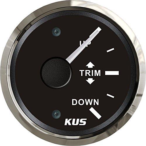 Kus wasserfest Trim Gauge Meter oben 52mm (5,1cm) 12V/24V mit Hintergrundbeleuchtung (12 V-meter)
