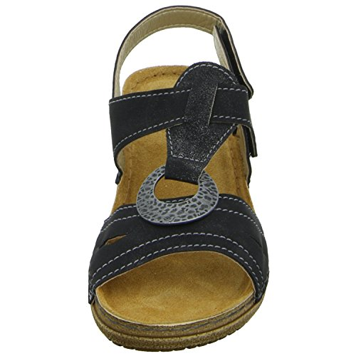 Inblu 44272F13/014 Damen Sandalette sportlicher Boden Schwarz (Schwarz)