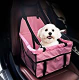 komener Tragbarer, faltbarer Pet Car Travel Auto Pet Tasche Storage Tasche (Pink)
