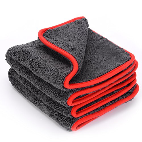 Thickest microfiber towel - car cleaning cloth - doubled absorption power through 1,200 GSM (!) - absorbing up to 10 times of its own weight - perfect for cleaning cars, motorcycles or households - 40 cm x 40 cm - 1 piece (2)