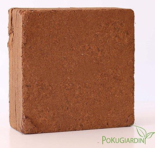 Pokugiardini, Kokoserde block 5 kg, für 70 liter reine Pflanzerde.