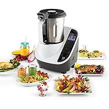 Klarstein Food Circus robot da cucina vaporiera multifunzionale (senza BPA, contenitore riscaldante, 10 funzioni, mixer, vaporiera, 500/1100 W) - bianco