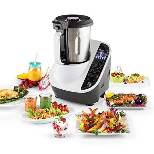 Multifunktions-Küchenmaschine Klarstein Food Circus (Dampfgarer, 10 Funktionen, einfache Steuerung, 2-Liter-Schüssel, BPA-frei) - weiß