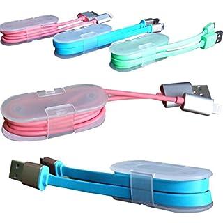 5 Stück, Kabel Management Kabelbinder Kabelwickler für iPhone Samsung USB MP3 Kopfhörer Draht Veranstalter um die Leitungen Organisiert und Ordentlich zu Halten (Weiß)