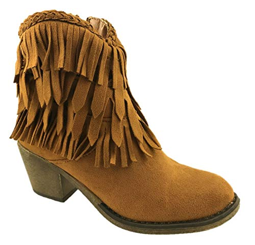 Generic ,  Damen Cowboy Stiefel, Braun - braun - Größe: 37 -