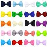 Baby- und Mädchenhaarbänder, Clips, rutschfest, gemischt, 20Farben (unterschiedliche Farben)