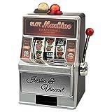 Spardose – Spielautomat (mit Gravur): originelle Verpackung für Dein Geldgeschenk – in Las Vegas Optik und mit witzigen Soundeffekten – optional mit Deinem Wunschtext graviert