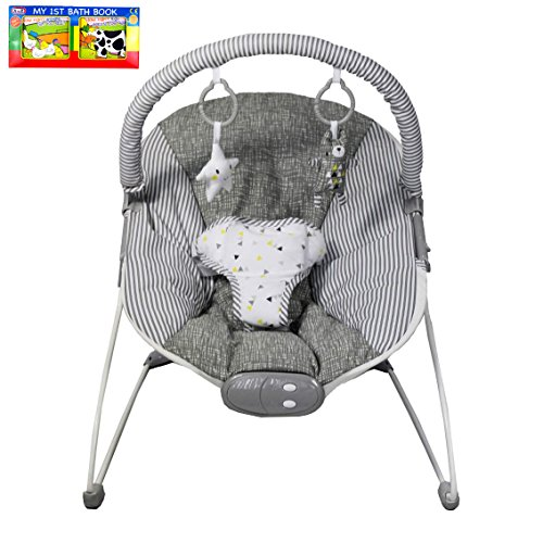 RedKite Musical Vibrating Bouncer Chair & A-Z 1st Book Bundle - Suitable From Birth