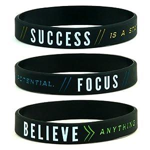 11thGear Success Focus Believe Silikon-Armband Set für Ihn und Ihn 2018