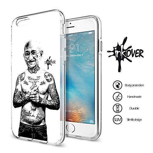 Cover iPhone 6 / 6S PLUS - INKOVER - Custodia Cover Protettiva Guscio Soft Case Bumper Trasparente Sottile Slim Fit Tpu Gel Morbida INKOVER Design Pirati Pirates Corsaro Teschio SKULL per APPLE iPhone FAMOUS 4