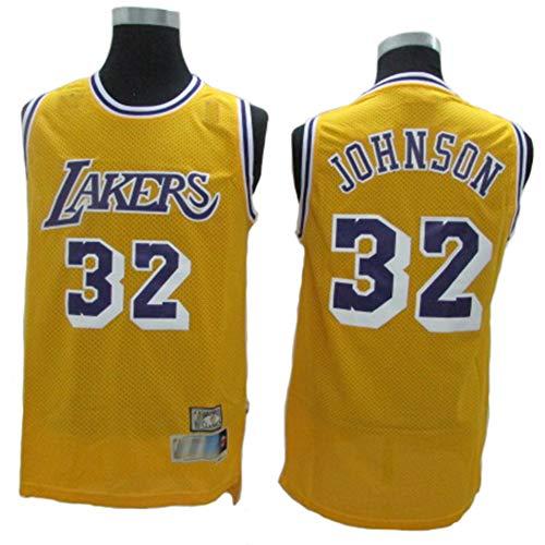 TGSCX NBA Magic Johnson # 32, Los Angeles Lakers, klassisches All-Star-Trikot, Cooles, atmungsaktives Vintage-Gewebe, Unisex-Basketballkleidung,A,M(175CM/65~75Kg) -