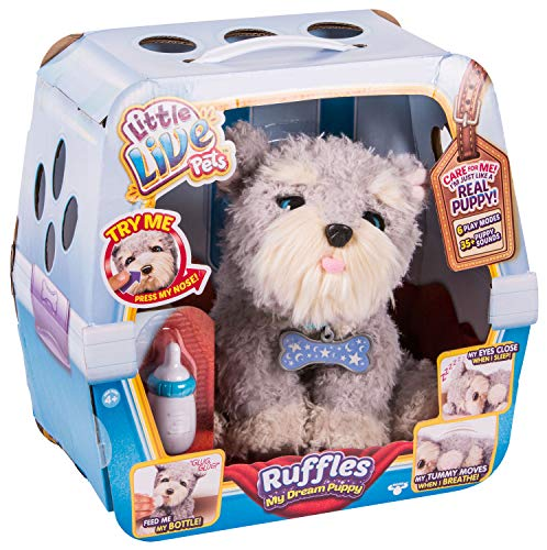 (Boti 34444 - Little Live Pets, Ruffles - My Dream Puppy, Funktionsplüsch - Hund, ca. 25 cm groß)