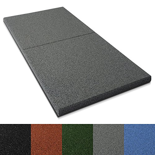 Preisvergleich Produktbild Fallschutzmatten Play Protect Plus | extragroß | grau | made in Germany | einzeln oder im 2er Set (1 Stück: 100 x 50 cm)