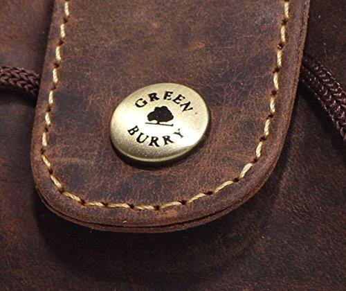 Greenburry Vintage Lederbeutel braun Tabakbeutel – Innenseite gefüttert – Echt Leder, pflanzlich gegerbt - 6