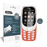 Nokia 3310 Schutzfolie - 2x dipos Glass Panzerglas Folie 9H Kunststoffglas