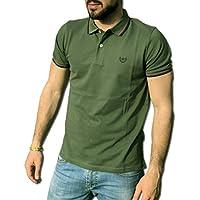 CONSENSO Polo Uomo T-Shirt Mezza Manica TG. M, L, XL, XXL, XXXL - Colori Assortiti (XL, Verde Oliva)