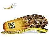 CURREX RunPro Sohle - Entdecke Deine Einlage für eine neue Dimension des Laufens. Dynamische Einlegesohle für Sport, Freizeit und Laufen, Med Profile, EU 42-44