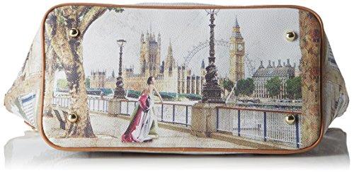 Y NOT? Shopping M, sac bandoulière Multicolore (Amazing London)