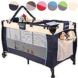 KIDUKU® Kinderreisebett Kinderbett Säuglingsbett Babybett Klappbett Reisebett für Kinder Zweitbett, mit zweiter...