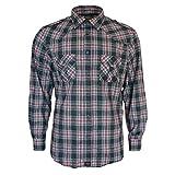 Rock-It Flanellhemd Herren Langarm Holzfällerhemd Kariert Made in Europe 4X-Large Schwarz/Rot/Grau Kariert