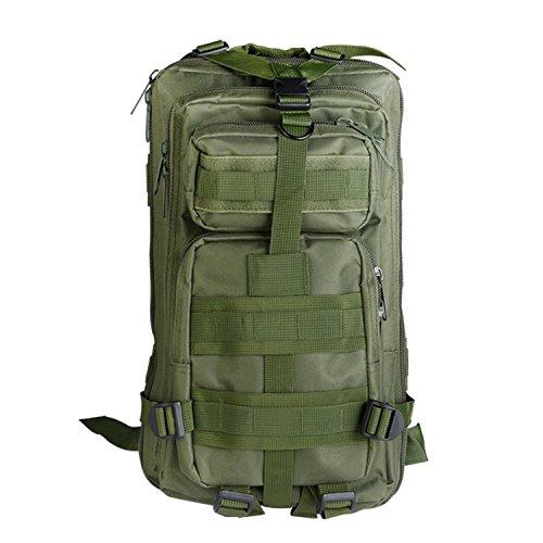 30L Rucksack Schultasche Wanderrucksack Trekkingrucksack Gasdurchlässig Netz Rückseite Reisetaschen Fahrradrucksack(Armee grün)