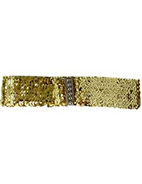 Sucre ceintures® pour femme Élastique Boucle Style en brillant à sequins  Taille élastique Ceinture 5a301c62f13