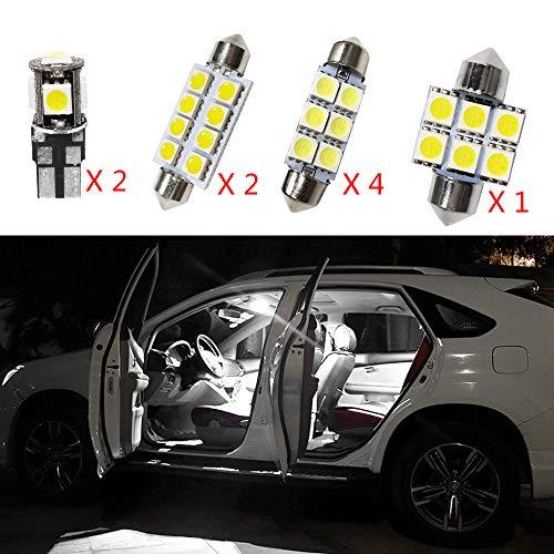 12V Blanc Pas De Polarité LED Ampoules de Voiture Intérieur Lampe pour Touran remplacent pour Les Ampoules halogènes ou cachées 9pcs