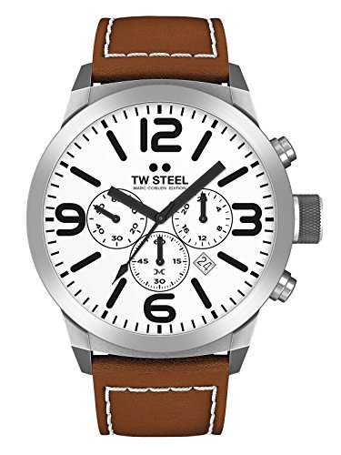 TW Steel Marc Coblen Edition Chrono mit Lederband 50 MM White/Brown TWMC57