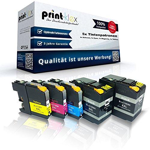 5x Cartouches d'encre Compatibles pour Brother j6925dw lc12e-BK lc12e C lc12e à économie d'M lc12e de Y Noir Cyan Magenta Jaune–Pack–Premium Pro Serie