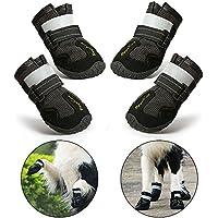 RoyalCare Zapatos Perro Impermeable, Zapatos Perro para Medianas y Grandes Perros - Negro (6#)