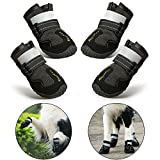 RoyalCare Dog Boots Paw Protector, Set of 4 Waterproof Anti-Slip Soft Dog Shoes