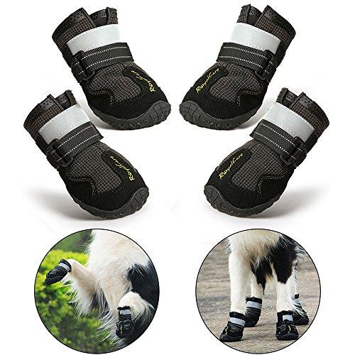 RoyalCare Zapatos Perro Impermeable, Zapatos Perro para Medianas y Grandes Perros - Negro (7#)