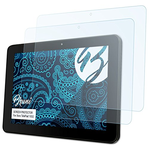 Bruni Schutzfolie für Xoro TelePad 1032 Folie, glasklare Bildschirmschutzfolie (2X)