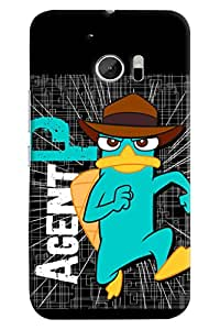 Omnam Agent P Printed Designer Back Cover Case For HTC 10