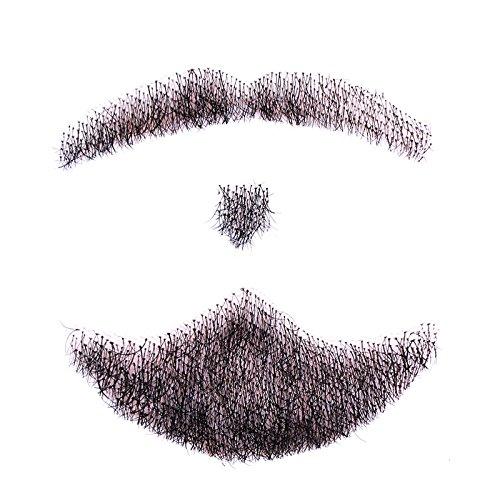 Fake Besten Bart (haosshop Echthaar Schnurrbart, handgefertigt Herren 's Bart für Kostüm und Halloween Party Stil Nr.)