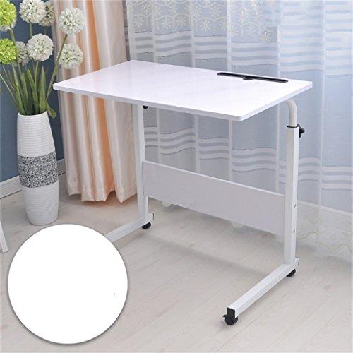Computer-Schreibtisch kann es einfach bewegen Aufzug Laptop-Tisch Bett Schreibtisch Landnutzung Mobile faul Tisch Nachttisch Computertisch (Farbe : D, größe : 80 * 40cm)