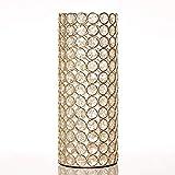 VINCIGANT Weihnachten Zylinder Kristall Hochzeitsblumenstrauß Blumen Vasen für Moderne Dekoration,Golden Hochzeitsgeschenke