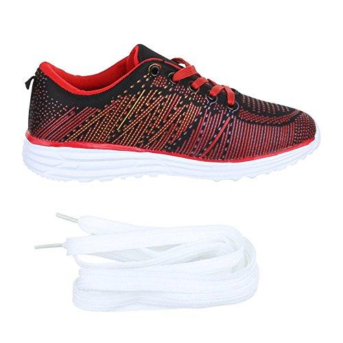 005 Qfp Rot Freizeitschuhe Schuhe Schwarz Turnschuhe Kinder Sneaker Sportschuhe UwEOPxfq