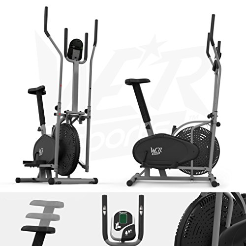 We R Sports Vélo d'appartement et vélo elliptique 2 en 1 Entrainement cardio Avec siège