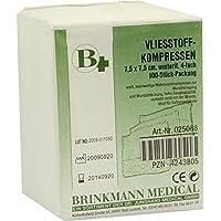 VLIESSTOFF-KOMPRESSEN 7,5x7,5 cm unsteril 4fach 100 St Kompressen preisvergleich bei billige-tabletten.eu