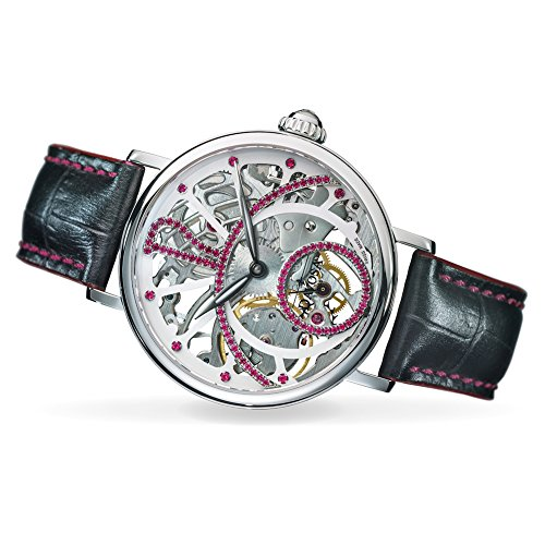 Davosa Mechanical Skeletal Grande Diva Stainless Steel Wrist Watch