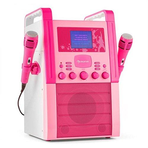 auna KA8P-V2 BK • karaoke • reproductor de karaoke para niños • pantalla TFT de 3,5 pulgadas • 2 x...