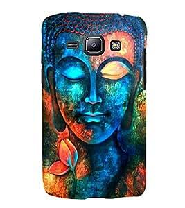 FUSON Buddha Colorful Statue Painting 3D Hard Polycarbonate Designer Back Case Cover for Samsung Galaxy J2 J200G (2015) :: Samsung Galaxy J2 Duos (2015) :: Samsung Galaxy J2 J200F J200Y J200H J200Gu