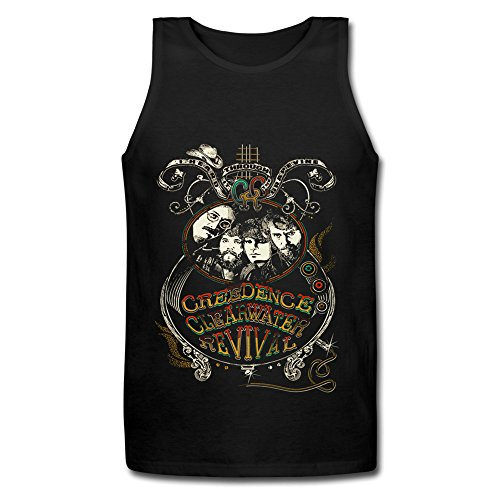 Price comparison product image Creedence Clearwater Revival Logo Men's T-Shirt Black Tank Top X-Large