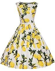 Find Dress Damen Wunderschön Rockabilly kleid 50s Cocktail Kleid Vintage Kleid