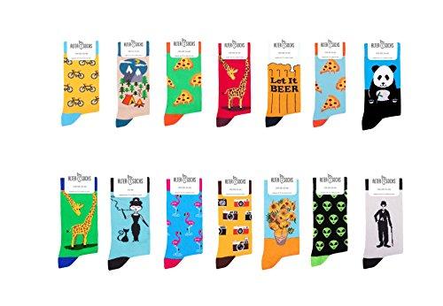 Socken berühmten Motiven, Gemälden & Personen - Unisex Mann Frau trendy Design/Größe 36 – 45 / Strümpfe Socks Socke Strumpf Hipster Malerei Painting lustig bunt witzig (Acharuli Khachapuri)